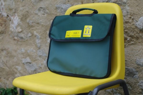 OTT Book Bag on school chair